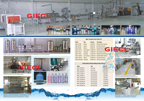 Turnkey Mineral Bottling Water Project In India